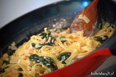 Pierś kurczaka faszerowana mozzarellą - kuchniabazylii.pl - blog kulinarny Mozzarella, Macaroni And Cheese, Spaghetti, Chicken, Meat, Ethnic Recipes, Kitchen, Blog, Beef