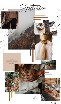 September Free Background and Monthly Goals Sweet Horizon Ecommerce Webdesign, Webdesign Layouts, Mode Collage, Aesthetic Collage, Aesthetic Design, Corporate Identity Design, Aesthetic Pastel Wallpaper, Aesthetic Wallpapers, Fonts Gratis
