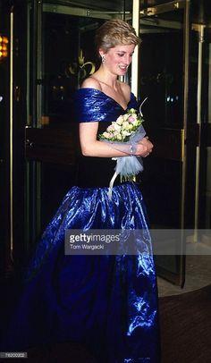 London October 1986 - Princess Diana at 'Starlight' Cabaret - Hilton Hotel, Park Lane: