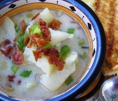 """Potato & Bacon Soup - Weight Watchers Friendly: """"Calling all potato soup lovers...this is a terrific recipe! Especially, if you want to cut calories and fat without losing any taste."""" -DuChick"""
