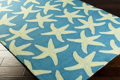Havenside Home Hand-Hooked Mia Starfish Indoor/ Outdoor Area Rug - x ( Small Area Rugs, Blue Area Rugs, Inexpensive Rugs, Hand Hooked Rugs, Transitional Rugs, Rug Sale, Indoor Outdoor Area Rugs, Home Rugs