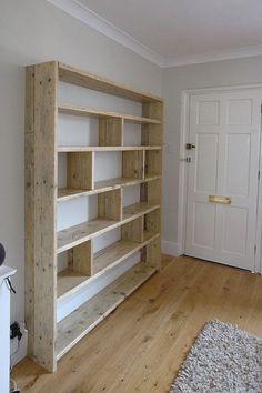 Wood Ideas Woodworkideas Diy Bookshelf Wall Large Shelves Vertical Wide