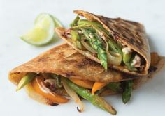 Chipotle Asparagus Quesadillas