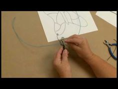 Wire Sculpture. Wish my school would unblock you tube. :-(