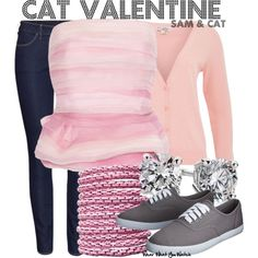 Inspired by Ariana Grande as Cat Valentine on Sam & Cat. Kim I want!