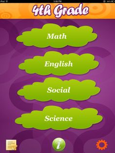 Smart Kids: 4th Grade is a one-stop-app for a Fourth Grader to learn Math, English, Science and Social.