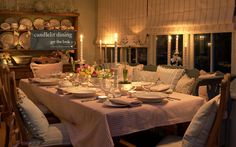 get-the-look-candlelit-dining from the Country Living Christmas Fair in London