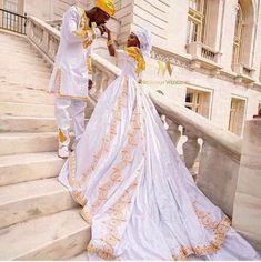 É assim que se casa a Realeza. African Wedding Attire, African Attire, African Fashion Dresses, African Dress, Nigerian Wedding Dresses Traditional, Traditional Weddings, Ghana Wedding, African American Weddings, African Weddings