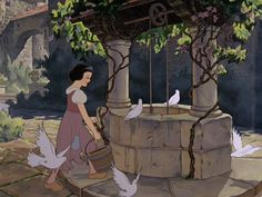 Snow White and the Seven Dwarfs (1937) . When backgrounds where painted by great illustrators - beautiful.