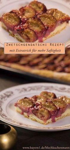 Zwetschgendatschi Rezept - der Klassiker aus Augsburg mit Hefeteig und saftigen Zwetschgen. Zum Rezept klicken!