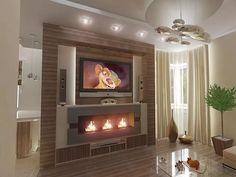 электрокамин в интерьере гостиной с телевизором: 14 тыс изображений найдено в Яндекс.Картинках House, Design, Home Decor, Google, Living Room, Beds, Architecture, Decoration Home, Home