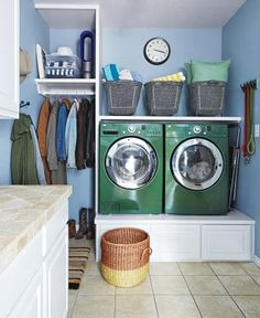Set Up an Efficient Laundry Room | How to organize your laundry-room space so you can get the most out of it.
