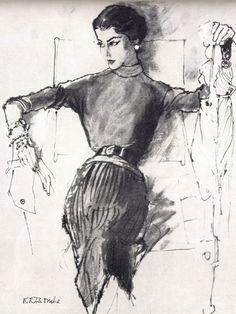 By René Robert Bouché (1905-1963), The Conde Nast Publications, Vogue.