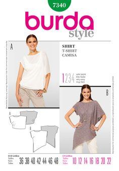 Simplicity Creative Group - Burda Style, T-Shirt http://www.simplicity.com/p-6826-burda-style-t-shirt.aspx Truly asymmetrical shirt