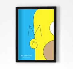 The Simpsons - Tv Series Minimalist Posters by Francisco Malvar, via Behance