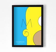 The Simpsons - Tv Series Minimalist Posters by Francisco Malvar, via Behance