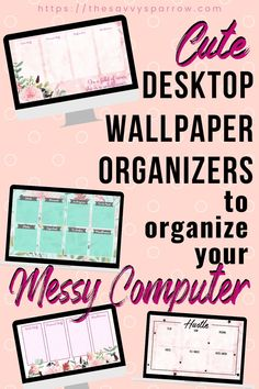 Now is a great time to organize computer files and folders! Learn how to use a free computer wallpaper to organize desktop files on your computer. These cute wallpapers are perfect to keep your digital files organized and declutter your computer! Folder Organization, Desktop Organization, Life Organization, Classroom Organization, Office Wallpaper, Computer Wallpaper, Desktop Wallpapers, Computer Basics, Computer Help