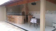 bancada de churrasqueira com piso imitando madeira - Pesquisa Google