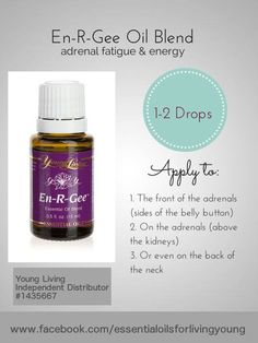 En-R-Gee Essential Oil Blend from Young Living can be helpful for combatting adrenal fatigue. www.facebook.com/essentialoilsforlivingyoung