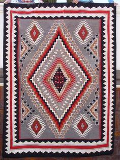 2079 Nora Bitusi Big Navajo Rug from the Nizhoni Ranch Gallery. A true work of art!