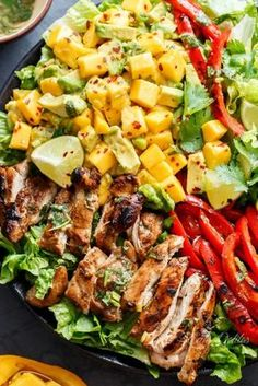 Cilantro Lime Chicken Salad with Mango Avocado Salsa: Trust us, you're going to want to make this over and over again this summer.