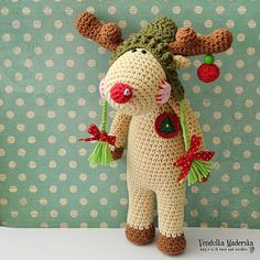 For your magical and funny moments - Christmas Reindeer Frankie will make a smile on your face :-)  *This is a crochet pattern and not the finished