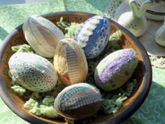 Primitive raggy egg bowl fillers ornies by 4theluvofprimitives, $10.00