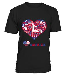"""# American Heart T-Shirt .  100% Printed in the U.S.A - Ship Worldwide*HOW TO ORDER?1. Select style and color2. Click """"Buy it Now""""3. Select size and quantity4. Enter shipping and billing information5. Done! Simple as that!!!Tag: patriotic, 4th of July, Independence Day, Fourth Of July, Memorial Day, Red White And Blue, Sunglasses, Uncle Sam, Dabbing, Uncle Sam Hat Glasses And Mustache, Fireworks, back to back champions, hero"""