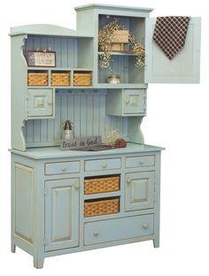 Cottage-style kitchen hutch