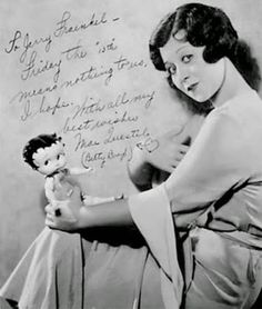 Mae Questel, the voice of Betty Boop, with her Betty Boop doll - c. Betty Boop cartoons were super rapey. Betty Boop Doll, Betty Boop Cartoon, Vintage Photographs, Vintage Photos, Helen Kane, Original Betty Boop, Kings & Queens, Arte Pop, Before Us
