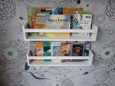 Kit 2 Prateleiras Livros e Revistas 60cm 67,00