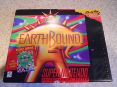Earthbound for Super Nintendo  Find anywhere, again..probably expensive.  Amazon.com: Earthbound - Nintendo Super NES: Video Games