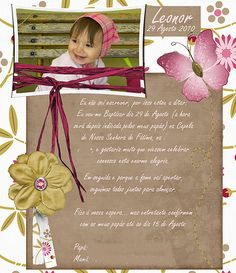 This is the invitation I made for my little one baptism.