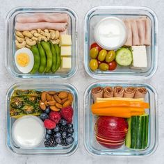 Meal Prep Bento Boxes 4 Different Ways (Clean Eating on the Go!) - Clean Food Crush Sausage, Take Out, Container, Meat, Toilet Cleaning, Food, Eten, Sausages, Hoods