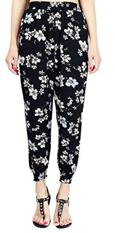 Womens Relaxed Fit Pull On Printed Jogger Chiffon Harem Pants Jogger Pants, Joggers, Harem Pants, Pajama Pants, Autumn Fashion Casual, Pants For Women, Floral Prints, Chiffon, Comfy