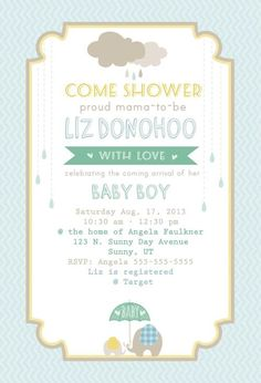 baby shower invite free printable #rainyday #babyshower #invitation #freeprintable