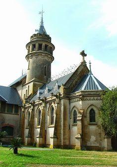 """Casco de estancia Santa Rosa, conocido como """"el castillo"""", emplazada entre las estaciones Lima y Atucha del ferrocarril Mitre. Zárate, Buenos Aires"""