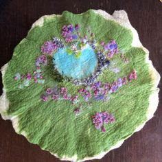 Beautiful pretty girl play story mat nature flower by wildwoollies