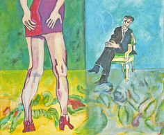 "Schilderij Ping Frederiks, ""The application"", 40x50 cm, Acryl op doek"