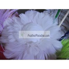 White 6 inch Rose Ball/Feather Ornaments/Feather Flower