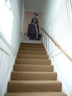 if we have to have carpet on the stairs. Stairs, Decor, Carpet, Banisters, Carpet Stairs, Sweet Home, Flooring, House, Home Decor