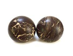 Pair Vintage Duckpin Bowling Balls  Rubber Duckpin Balls