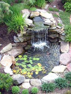 18 Lovely Ponds And Water Gardens For Your Backyard #WaterGarden