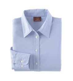 Harriton Womens Stain Release Oxford Blend Long Sleeve Button Down Shirt M600W