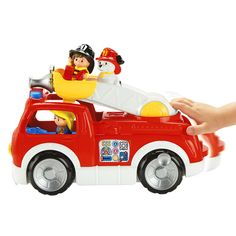 Little People® Lift 'n Lower Fire Truck - Shop Little People Toddler Toys | Fisher-Price