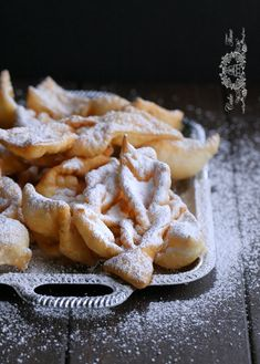 caddisflies or Faworki / pastry Beignets, Polish Recipes, Polish Food, Biscuit Cookies, Time To Eat, Granulated Sugar, Powdered Sugar, Greek Recipes, Food Dishes