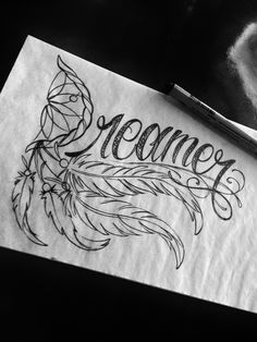 Dreamer Feather Tattoo <3