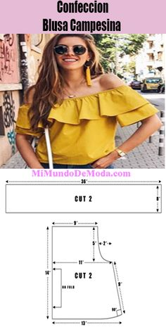 Dress Sewing Patterns, Blouse Patterns, Pattern Making Books, Sewing Blouses, Camisa Polo, Diy Dress, Spring Collection, Diy Clothes, Costura Diy