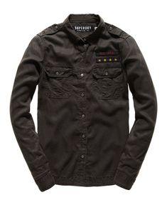Superdry Military Shirt  Black