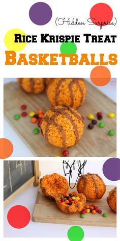 These Rice Krispie basketballs make a great treat for any tournament party or game day. Overtime bonus: they're stuffed with Skittles! #SkittlesTourney #ad